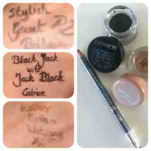 P2 Stylish Great Britain, Catrice Black Jack with Jack Black, Essence Mother Earth is Watching You