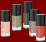 Ultimate Nail Lacquer, 5 Nuancen (C01 Be Pool,670 It's Rambo No. 5, 830 Salmon & Garfunkel, 690 Fred Said Red und 710 Dulce & Havanna)
