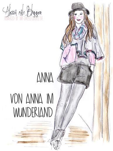 Allessa malt Blogger Anna im Wunderland
